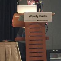 Panel moderator Wendy Buske