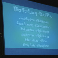 Projection screen from the GeekGirlCon panel