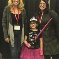 Susan Eisenberg and Wendy Buske with Darth McKenna