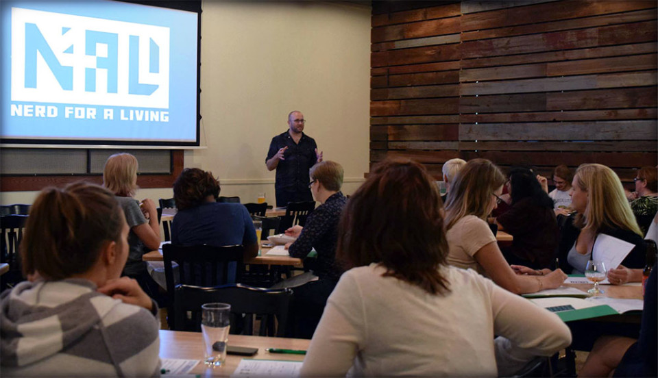 Adron Buske presents Be Your Own Hero at SHE in the Pub