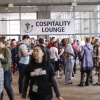The Emerald City Cospitality Lounge offered a nice area for fans to rest and take photos of cosplayers.