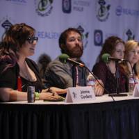 Espionage Cosmetics CEO and Glitter Jedi Jaimie Cordero talks on the Emerald City panel.
