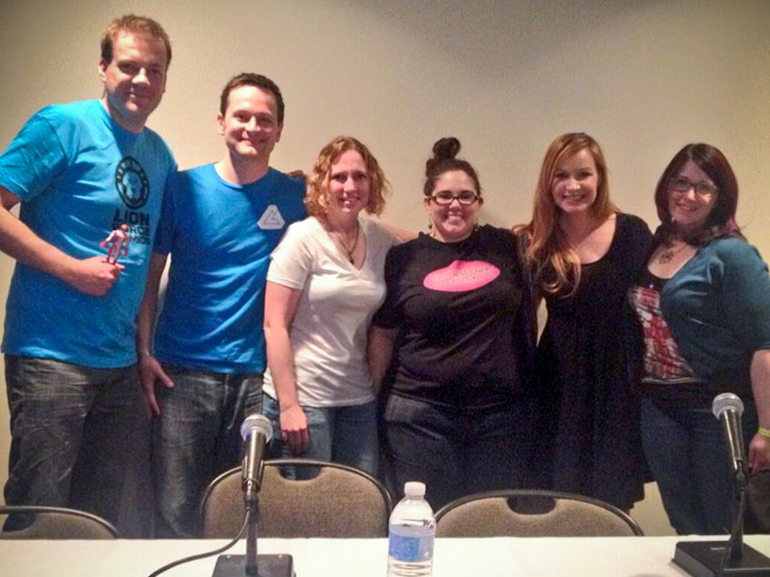 How to be a Nerd for a Living panelists at Wizard World St. Louis 2014