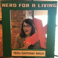 TEDx Gateway Arch: N4AL's Wendy Buske in the photo booth