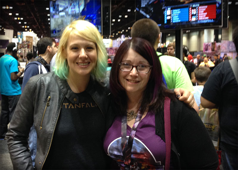 Abbie Heppe with Nerd for a Living's Wendy Buske at C2E2 2014