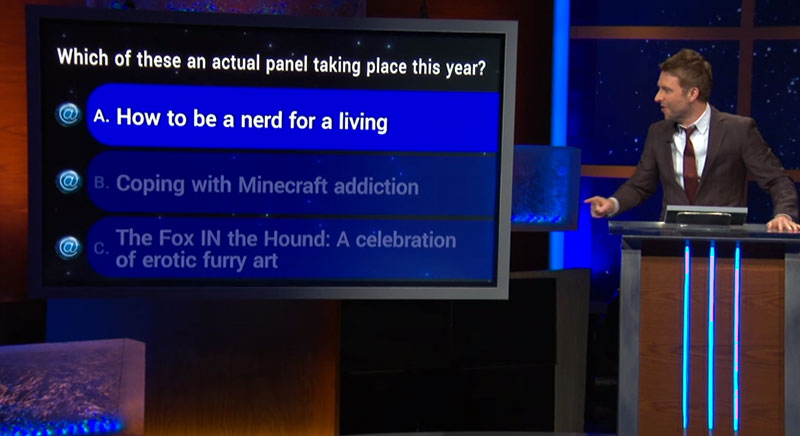 Chris Hardwick talks about the Nerd for a Living panel on @Midnight