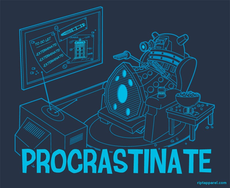 Dalek Procrastinate by Bamboota at Ript Apparel