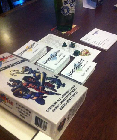 Drinking Quest game set