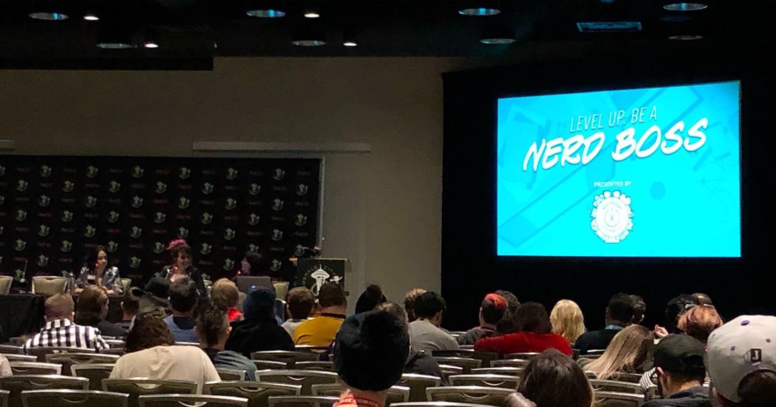 Level Up: Be a Nerd Boss panel