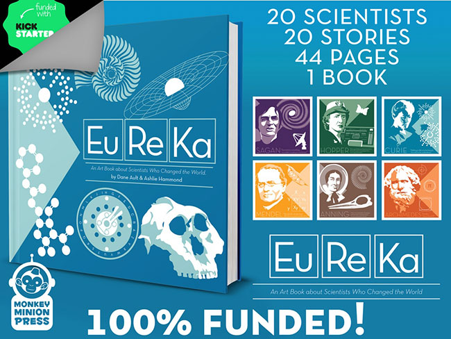 Monkey Minion Press Kickstarter for Eureka: The Art of Science