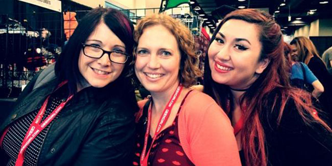 Wendy Buske, Amanda Nuckolls and Christal VanEtten at GeekGirlCon 2014