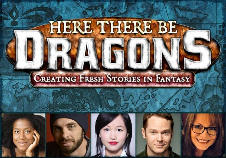 Here There Be Dragons panel