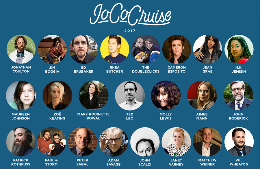 JoCo Cruise 2017 Guest Announcement