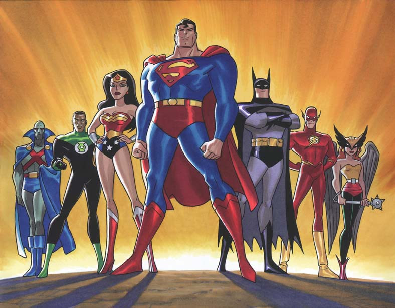 Justice League animated series - original team