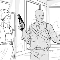 Archer storyboard art by Kevin Mellon 2