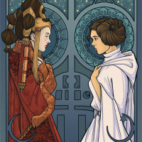 Karen Hallion - Princesses Amidala and Leia