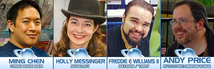 Planet Comicon 2016 Nerd For A Living Panel Line-Up: Ming Chen, Holly Messinger, Freddie Williams II, and Andy Price