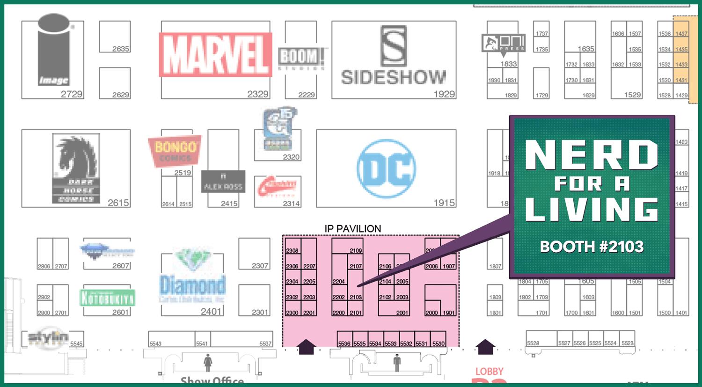 San Diego Comic Con 2018 Floor Map Location