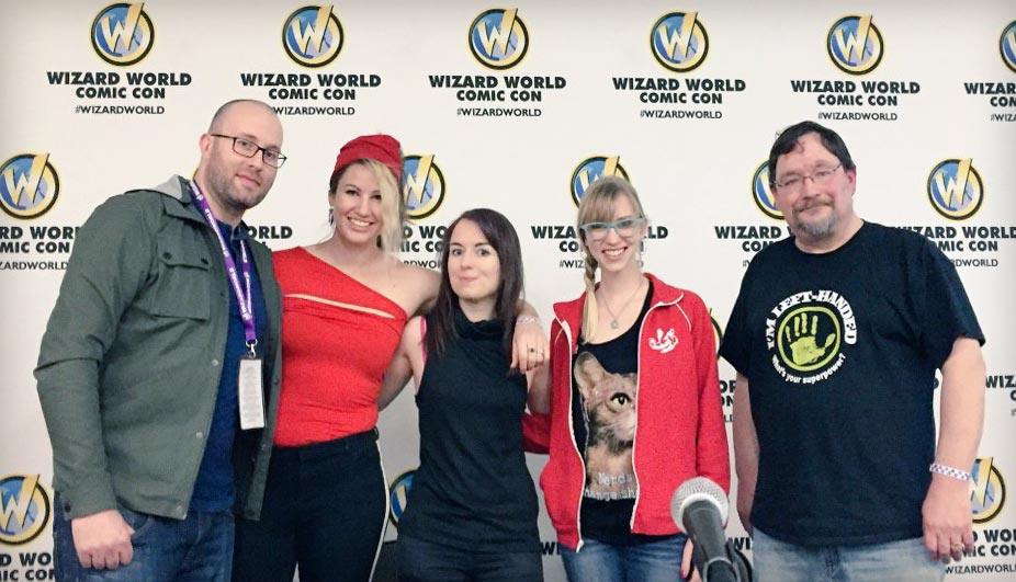 Wizard World St. Louis How to be a Nerd for a Living panel with Adron Buske, Ellie Ann, Rachael Stott, Carol Mertz, and Rick Burchett